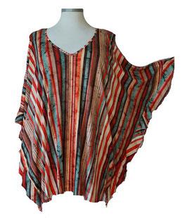 ButterflyCut Shirt Grün mit mehrfarbigen Längsstreifen (BC-780)