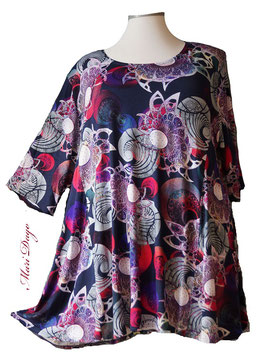 SunShine Shirt in A-Linie - Ocean Fantasy - (Vis-03-20-1)