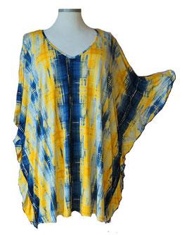 ButterflyCut Shirt Yellow & Blue mit weißem Aufdruck (BC-782)