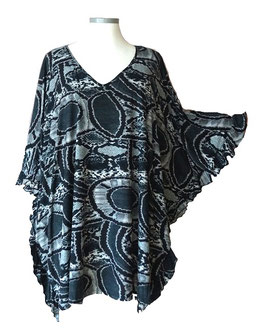 ButterflyCut Shirt Soft-Touch Schwarz Grau (BC-858)