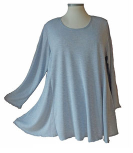 Poly-Softtouch Pullover in A-Linie Hellblau (FS-P-165-3)