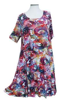 SunShine Kleid in 6-Bahnen A-Linie Modern Slinky & Flower (MD-KL-612)