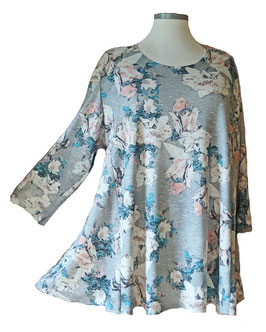Schillernder Pullover Flower Light-ColorArt-Design Eisblau Grau Rosa (LCA-05) (L26)