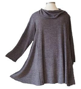 Dunkelgrau-melierter Pullover mit Schalkragen (MA-Nr.14)