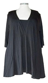 Business Shirt SunShine A-Linie 3/4 Ärmel Schwarz (MD-516)