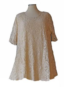 T-Shirt  A-Linie *Rosen Spitze *  ( Eierschale ) T04