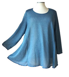 Poly-Softtouch Pullover in A-Linie Blau (FS-P-165-1)