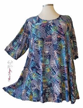 SunShine Shirt in A-Linie - Bunt Blau - (AS-0220-30)