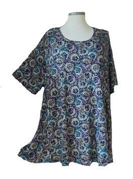 SunShine T-Shirt Little Flower Blau Bunt (MD-932)