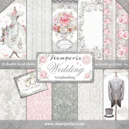 Stamperia-Paper Pad Wedding 12x12""