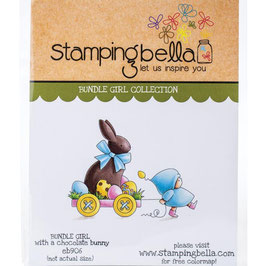 Stamping Bella-Cling Stamp/Bundle Girl With A Chocolate Bunny
