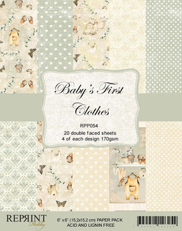 """Reprint-Baby´s First Clothes Collection 6x6"""""""