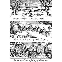 Stampers Anonymous by Tim Holtz-Stempel/Holiday Scenes