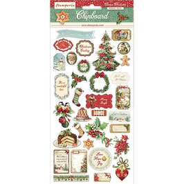 Stamperia-Chipboard Classic Christmas