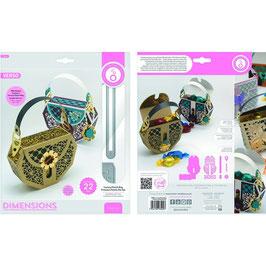 Tonic Studios Stanzform-Dimensions-Luxury Clutch Bag Precious Petals 3900E