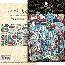 Graphic 45-Cardstock Die-Cut Assortment-Let It Snow