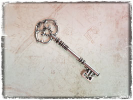 Metall Charms-Schlüssel Silber-298