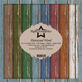 """Paper Favourites-Distressed Wood 6x6"""""""