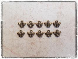 Metall Charms-Biene Bronce-129