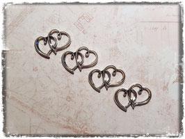 Metall Charms-Herzen Silber-231
