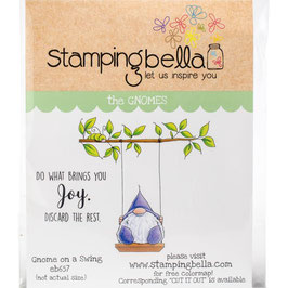 Stamping Bella-Cling Stamp/Gnome On A Swing