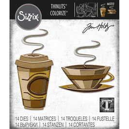 Sizzix Thinlits by Tim Holtz-Stanzform/Cafe Colorize
