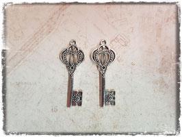 Metall Charms-Schlüssel Silber-297