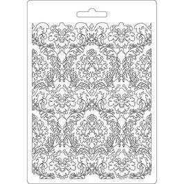 Stamperia-Soft Mould A5-Damask K3PTA554