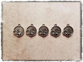 Metall Charms-Uhr Silber-263