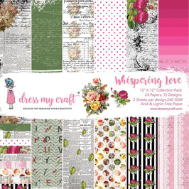 Dress my Craft-Whispering Love/Paper Pad 12x12""