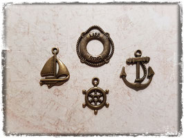 Metall Charms-Boot Bronce-159