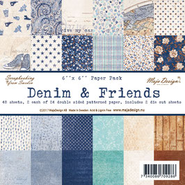 Maja Design-Paper Pad Denim & Friends 6x6""