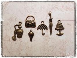 Vintage Metall Charms-bronce/Wohnen