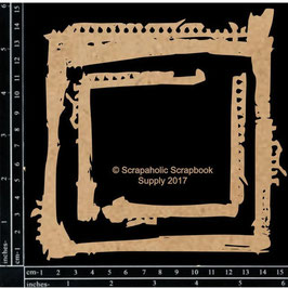 Scrapaholic/Laser Cut Chipboard-Grunge Frame