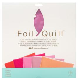 """We R-Foil Quill Folienblätter 12x12""""/Flamingo"""