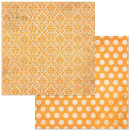 BoBunny-Double Dot Damask/Orange Citrus