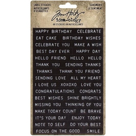 Idea-Ology by Tim Holtz/Label Stickers-Sentiments
