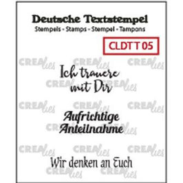 """Crealies-Clear Stamps """"Trauern 05"""""""