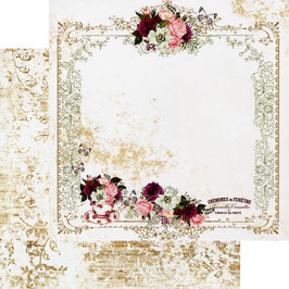 Prima Marketing-Pretty Mosaic/Tea & Roses 12x12""
