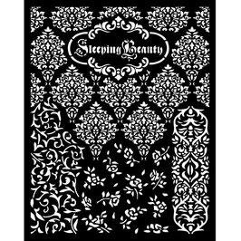 Stamperia Stencil-Sleeping Beauty KSTD079