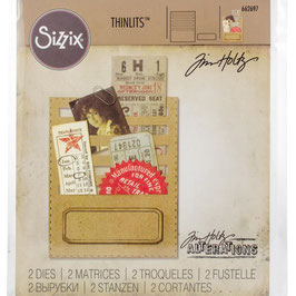 Sizzix by Tim Holtz Thinlits-Stanzform/Stitched Slots