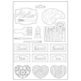 Stamperia-Soft Mould A4-Atelier Des Arts K3PTA497