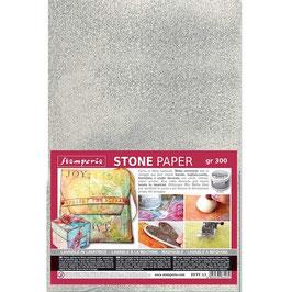 Stamperia-Stone Paper/Steinpapier A4 Silver