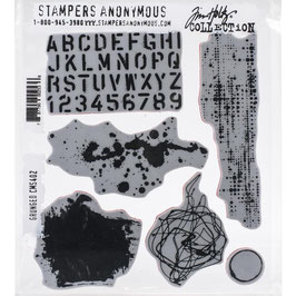 Stampers Anonymous by Tim Holtz-Stempel/Grunged