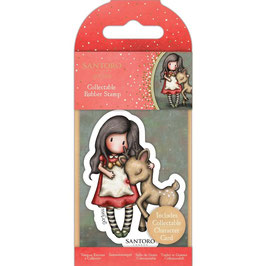 Gorjuss-Collectable Mini Rubber Stamp No.79/Oh Deer