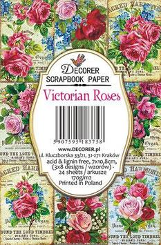 Decorer-Ephemera Karten/Victorian Roses
