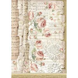 Stamperia Reispapier A4-Princess DFSA4486