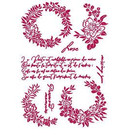 Stamperia-Stencil/Romantic Collection-Journal/Garlands Love KSG461
