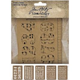 Idea-Ology by Tim Holtz-Stencil Cards