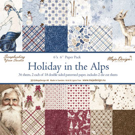 Maja Design-Paper Pad Holiday in the Alps 6x6""